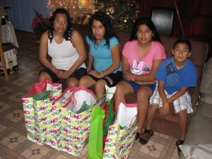 Pictured from left to right, Hortencia, Janette, Jazmin and Giovanni. Father, Jose, was still asleep